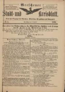 Wreschener Stadt und Kreisblatt: amtlicher Anzeiger für Wreschen, Miloslaw, Strzalkowo und Umgegend 1898.01.15 Nr5