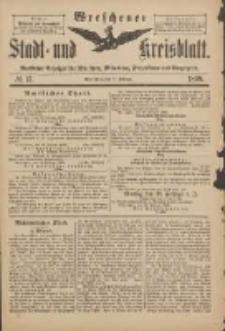 Wreschener Stadt und Kreisblatt: amtlicher Anzeiger für Wreschen, Miloslaw, Strzalkowo und Umgegend 1898.02.19 Nr15