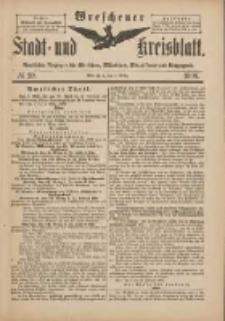 Wreschener Stadt und Kreisblatt: amtlicher Anzeiger für Wreschen, Miloslaw, Strzalkowo und Umgegend 1898.03.05 Nr20