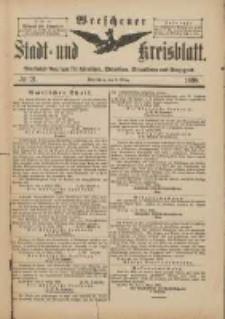 Wreschener Stadt und Kreisblatt: amtlicher Anzeiger für Wreschen, Miloslaw, Strzalkowo und Umgegend 1898.03.09 Nr21