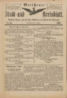 Wreschener Stadt und Kreisblatt: amtlicher Anzeiger für Wreschen, Miloslaw, Strzalkowo und Umgegend 1898.03.19 Nr24