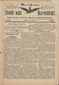 Wreschener Stadt und Kreisblatt: amtlicher Anzeiger für Wreschen, Miloslaw, Strzalkowo und Umgegend 1898.04.02 Nr28