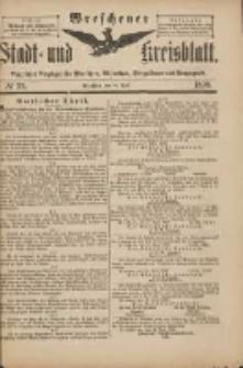 Wreschener Stadt und Kreisblatt: amtlicher Anzeiger für Wreschen, Miloslaw, Strzalkowo und Umgegend 1898.04.16 Nr33