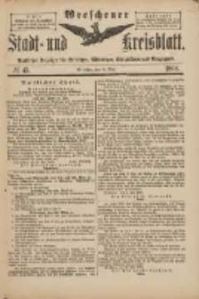 Wreschener Stadt und Kreisblatt: amtlicher Anzeiger für Wreschen, Miloslaw, Strzalkowo und Umgegend 1898.05.21 Nr43