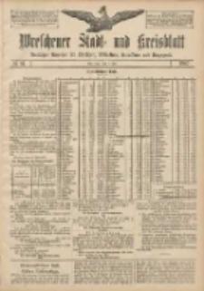 Wreschener Stadt und Kreisblatt: amtlicher Anzeiger für Wreschen, Miloslaw, Strzalkowo und Umgegend 1907.07.09 Nr81