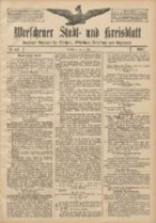 Wreschener Stadt und Kreisblatt: amtlicher Anzeiger für Wreschen, Miloslaw, Strzalkowo und Umgegend 1907.07.11 Nr82