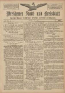 Wreschener Stadt und Kreisblatt: amtlicher Anzeiger für Wreschen, Miloslaw, Strzalkowo und Umgegend 1907.07.13 Nr83