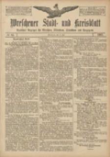 Wreschener Stadt und Kreisblatt: amtlicher Anzeiger für Wreschen, Miloslaw, Strzalkowo und Umgegend 1907.07.16 Nr84