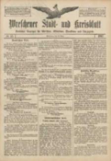 Wreschener Stadt und Kreisblatt: amtlicher Anzeiger für Wreschen, Miloslaw, Strzalkowo und Umgegend 1907.03.19 Nr35