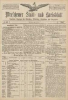 Wreschener Stadt und Kreisblatt: amtlicher Anzeiger für Wreschen, Miloslaw, Strzalkowo und Umgegend 1907.04.23 Nr49