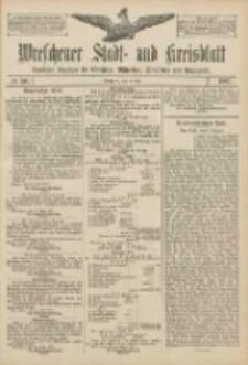 Wreschener Stadt und Kreisblatt: amtlicher Anzeiger für Wreschen, Miloslaw, Strzalkowo und Umgegend 1907.04.25 Nr50