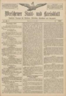 Wreschener Stadt und Kreisblatt: amtlicher Anzeiger für Wreschen, Miloslaw, Strzalkowo und Umgegend 1907.04.30 Nr52