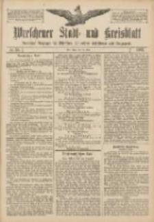 Wreschener Stadt und Kreisblatt: amtlicher Anzeiger für Wreschen, Miloslaw, Strzalkowo und Umgegend 1907.05.14 Nr58