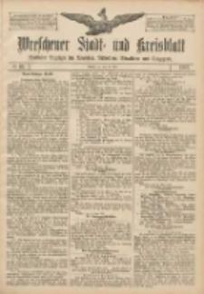 Wreschener Stadt und Kreisblatt: amtlicher Anzeiger für Wreschen, Miloslaw, Strzalkowo und Umgegend 1907.05.23 Nr61