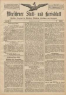 Wreschener Stadt und Kreisblatt: amtlicher Anzeiger für Wreschen, Miloslaw, Strzalkowo und Umgegend 1907.05.25 Nr62