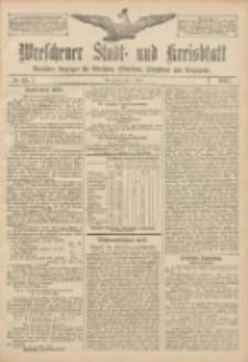 Wreschener Stadt und Kreisblatt: amtlicher Anzeiger für Wreschen, Miloslaw, Strzalkowo und Umgegend 1907.06.01 Nr65