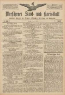 Wreschener Stadt und Kreisblatt: amtlicher Anzeiger für Wreschen, Miloslaw, Strzalkowo und Umgegend 1907.06.04 Nr66
