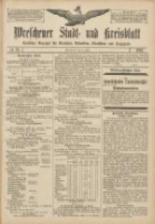 Wreschener Stadt und Kreisblatt: amtlicher Anzeiger für Wreschen, Miloslaw, Strzalkowo und Umgegend 1907.06.27 Nr76