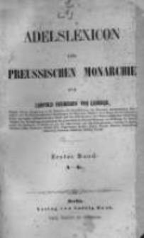 Adelslexicon der preussischen Monarchie. Bd.1, A-K