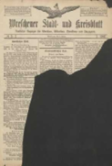 Wreschener Stadt und Kreisblatt: amtlicher Anzeiger für Wreschen, Miloslaw, Strzalkowo und Umgegend 1907.01.03 Nr2