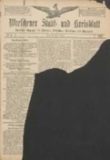 Wreschener Stadt und Kreisblatt: amtlicher Anzeiger für Wreschen, Miloslaw, Strzalkowo und Umgegend 1907.01.08 Nr4