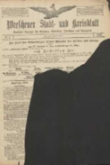 Wreschener Stadt und Kreisblatt: amtlicher Anzeiger für Wreschen, Miloslaw, Strzalkowo und Umgegend 1907.01.15 Nr7