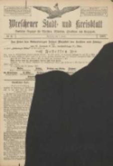 Wreschener Stadt und Kreisblatt: amtlicher Anzeiger für Wreschen, Miloslaw, Strzalkowo und Umgegend 1907.01.17 Nr8
