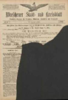 Wreschener Stadt und Kreisblatt: amtlicher Anzeiger für Wreschen, Miloslaw, Strzalkowo und Umgegend 1907.01.19 Nr9