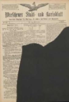 Wreschener Stadt und Kreisblatt: amtlicher Anzeiger für Wreschen, Miloslaw, Strzalkowo und Umgegend 1907.01.22 Nr10