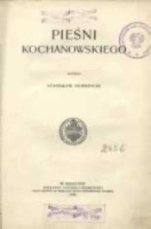 Pieśni Kochanowskiego
