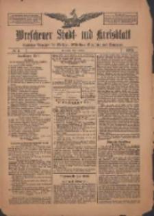 Wreschener Stadt und Kreisblatt: amtlicher Anzeiger für Wreschen, Miloslaw, Strzalkowo und Umgegend 1909.01.09 Nr4