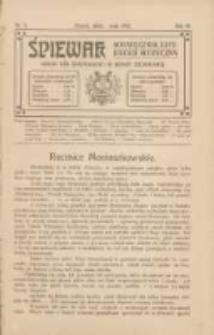 Śpiewak: miesięcznik literacko-muzyczny : organ Kół Śpiewackich w Rzeszy Niemieckiej 1912.05.01 R.6 Nr5
