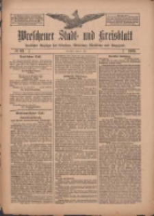 Wreschener Stadt und Kreisblatt: amtlicher Anzeiger für Wreschen, Miloslaw, Strzalkowo und Umgegend 1909.07.15 Nr82
