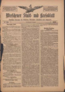 Wreschener Stadt und Kreisblatt: amtlicher Anzeiger für Wreschen, Miloslaw, Strzalkowo und Umgegend 1909.11.13 Nr135