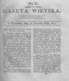 Gazeta wieyska czyli wiadomości gospodarczo-rolnicze. 1817.08.22 Nr34