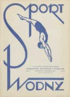 Sport Wodny: czasopismo poświęcone sprawom wioślarstwa, żeglarstwa i pływactwa 1927.08.30 R.3 Nr12