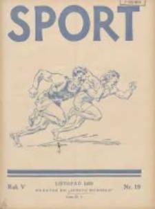 Sport Wodny: dwutygodnik poświęcony sprawom wioślarstwa, żeglarstwa i pływactwa 1929.11 R.5 Nr19