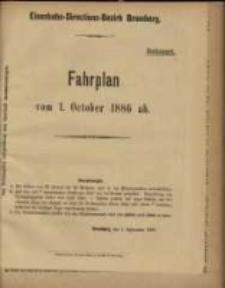 Fahrplan vom 1. October 1886 ab.