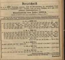 Verzeichniss …. vom 1. December 1886 … am 1. Juli 1887.... Staatsanleihe vom Jahre 1868 A.