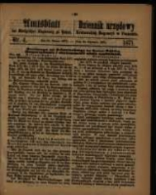Amtsblatt der Königlichen Regierung zu Posen. 1871.01.24 Nro.4