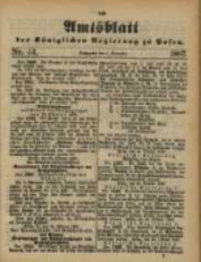 Amtsblatt der Königlichen Regierung zu Posen. 1887.11.01 Nro.44