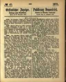 Oeffentlicher Anzeiger. 1873.11.20 Nro.47