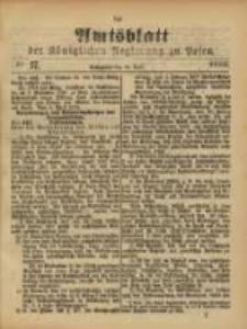 Amtsblatt der Königlichen Regierung zu Posen. 1888.04.24 Nro.17