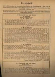 Verzeichniss …. Vom 3. Marz 1888 .. am 1. October 1888 …