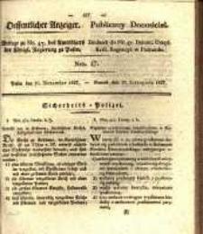 Oeffentlicher Anzeiger. 1827.11.20 Nro.47