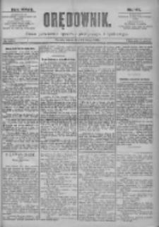 Orędownik: pismo dla spraw politycznych i spółecznych 1897.02.27 R.27 Nr47