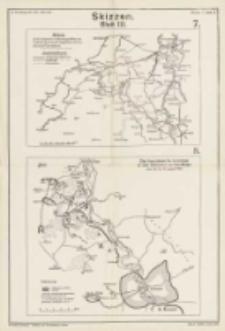 Der Marne-Feldzug: von der Sambre zur Marne: mit sieben Karten und elf Skizzen. Skizzen Blatt III. Bd.3 Skizze 7 und 8