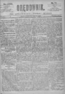 Orędownik: pismo dla spraw politycznych i spółecznych 1897.04.04 R.27 Nr77
