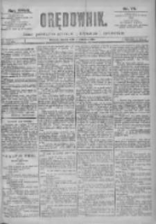 Orędownik: pismo dla spraw politycznych i spółecznych 1897.04.06 R.27 Nr78