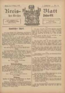 Kreis-Blatt des Kreises Posen-Ost 1895.04.06 Jg.8 Nr14